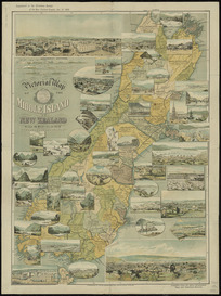 Pictorial map of the Middle Island of New Zealand [cartographic material] : compiled from the latest government maps and statistical records.
