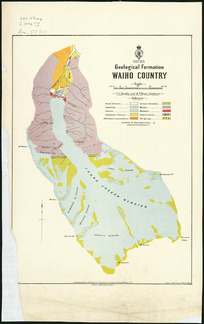 Geological formation Waiho country [cartographic material] / C.E. Douglas and A.P. Harper, explorers.