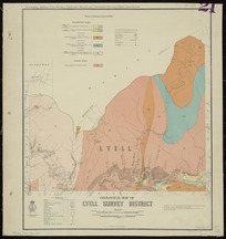 Geological map of Lyell survey district [cartographic material] / drawn by G.E. Harris, 1935.