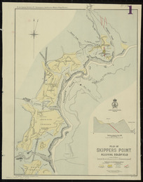 Plan of Skippers Point alluvial goldfield [cartographic material] / drawn by R.J. Crawford.