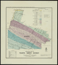 Geological map of Warepa Survey District [cartographic material] / drawn by G.E. Harris.