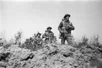 New Zealand infantrymen during World War II, Senio River area, Italy