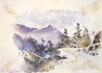 Hodgkins, William Mathew, 1833-1898 :On Peninsula Road, Art club sketch [1880s?]