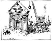Tremain, Garrick fl 1990s :Welfare State. Otago Daily Times. 16 February, 1994.