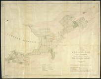 Plan of the city of Wellington, Port Nicholson [cartographic material] : the first & principal settlement of the New Zealand Company / by Felton Mathew Esq., 1841 ; J. Arrowsmith, lithog.