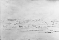 [Park, Robert] 1812-1870 :[Panorama of Wanganui from Durie Hill, 1848 or 1849?]