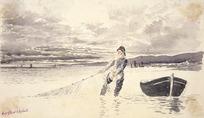 Hodgkins, William Mathew, 1833-1898 :Art club sketch [1880s?]
