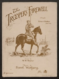 The trooper's farewell / words by W.W. Boyes ; music by Frank Wolfgang.