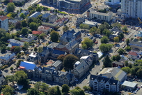 Effects of the Canterbury earthquakes of 2010 and 2011, particularly of aerial views of Christchurch City CBD and suburbs