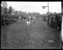 Running race at a New Zealand contingent sports day in Le Doulieu, France, during World War I