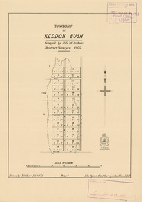 Township of Heddon Bush [electronic resource] surveyed by J.D. McArthur, district surveyor, 1866 ; drawn by J.G. Clare, Feby. 1878.