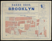 Baker Bros. have been authorised by Messrs. H.D. Bell and A.H. Miles (on behalf of the owners), to offer for private sale the remaining lots (those white) of Brooklyn [electronic resource] : varying in size from a quarter of an acre each / T. Ward, surveyor.