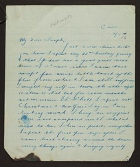 Letters and associated papers