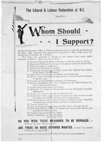Liberal & Labour Federation of N.Z. :Whom should I support? [1899].