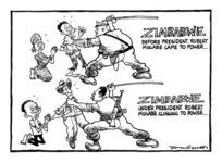 Scott, Tom, 1947- :Zimbabwe before President Robert Mugabe came to power ... Zimbabwe under President Robert Mugabe clinging to power ... [27 April 2000].