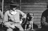 New Zealand soldier with dog