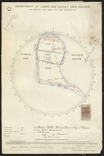 Plan of section 1099, Nelson Haven, city of Nelson [cartographic material] : surveyed for the Native Department / by J.B. Saxon.