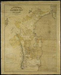 Map of the province of Hawke's Bay, New Zealand [cartographic material] / compiled and drawn from official sources by R.B. Bristed, surveyor ; Alfred Jarman, litho.
