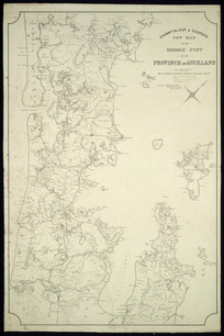 Champtaloup & Cooper's new map of the middle part of the province of Auckland [cartographic material].