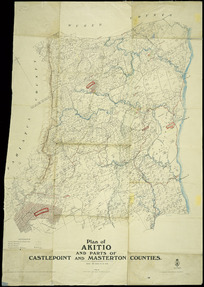 Plan of Akitio and parts of Castlepoint and Masterton counties [cartographic material].