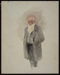 [Hodgkins, Frances Mary] 1869-1947 :R B [Portrait of a man, 1890s?]