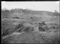 The Black Bridge, Te Mata, near Raglan, 1910 - Photograph taken by Gilmour Brothers