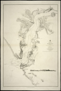 Hokianga River [cartographic material] / surveyed by Commr. B Drury and the officers of H.M.S. Pandora, 1851 ; engraved by J. & C. Walker.