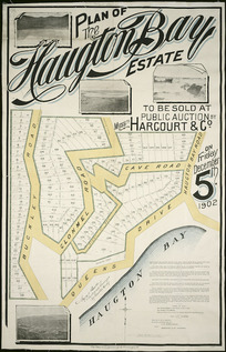 Plan of the Haugton [i.e.Haughton] Bay estate [cartographic material] / Wyn. O. Beere, surveyor.