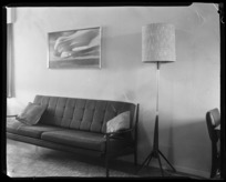 Whites Aviation photograph of Taieri Pet, displayed in living room of Leo White
