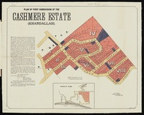 Plan of first subdivision of the Cashmere Estate (Khandallah) / H.P. Hanify, surveyor.