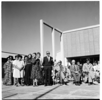 Dowse Art Gallery, during the opening of an exhibition on Parihaka by Selwyn Muru