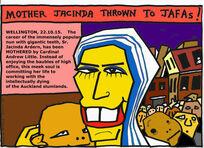 Mother Jacinda thrown to the JAFAs
