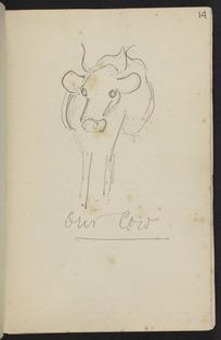 Hodgkins, Frances Mary 1869-1947 :Our cow. [ca 1890]