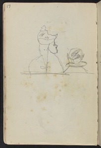 Hodgkins, Frances Mary 1869-1947 :[Preliminary sketch of members of church congregation. ca 1890]