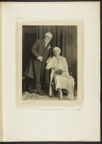 Golden wedding anniversary portrait of Sir Robert and Lady Anna Paterson Stout