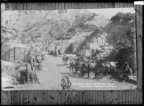 Ordnance depot at Shrapnel Gully, Gallipoli, first World War - Photograph taken by J M