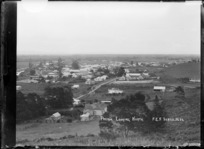 Paeroa, looking North, ca 1918 - Photograph taken by Fred. E Flatt