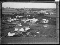 Paeroa, looking West, ca 1918 - Photograph taken by Fred. E Flatt