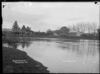 The Waikato River at Ngaruawahia, circa 1910 - Photograph taken by Robert Stanley Fleming