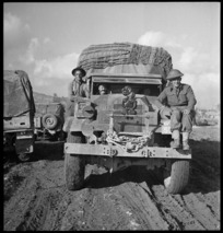New Zealand truck after crossing Sangro River, Italy - Photograph taken by George Kaye
