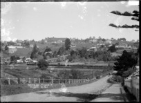 View of Remuera taken from vicinity of Brighton Road, Parnell looking towards Mount Hobson