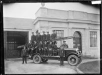Otahuhu Fire Brigade outside the Borough Council Chambers