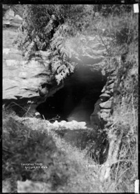 Cave mouth at Te Uku, 1910 - Photograph taken by Gilmour Brothers