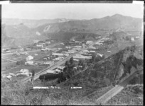 View looking south over Mangaweka township - Photograph taken by Frank Stewart
