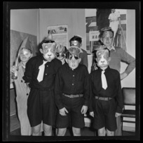 National Airways Corporation Orphan's wearing party masks and hats
