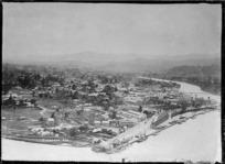 Panoramic view of Gisborne taken from Kaiti Hill