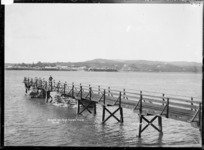 Raglan from Te Akau Wharf, 1910 - Photograph taken by Gilmour Brothers