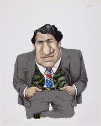 Hodgson, Trace, 1958- :[Winston Peters caricature] New Zealand Listener, 21 January, 1989.