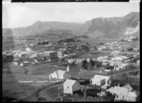 View looking down on Mangaweka township - Photograph taken by Frank Stewart