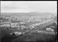 General view of central Wanganui from the foot of St John's Hill